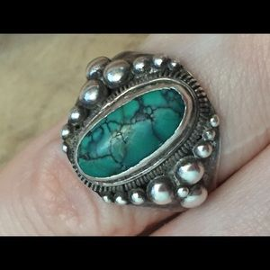 Beautiful Vintage Native American 925 silver ring